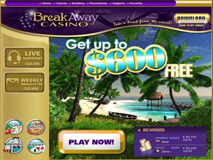 Break Away Casino objective review on LCB