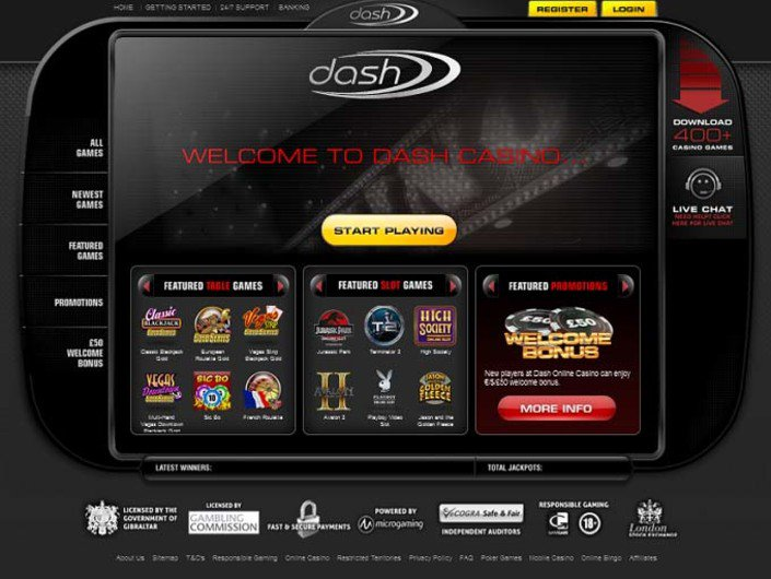 Dash Casino objective review on LCB