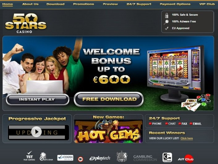 50 Stars Casino objective review on LCB