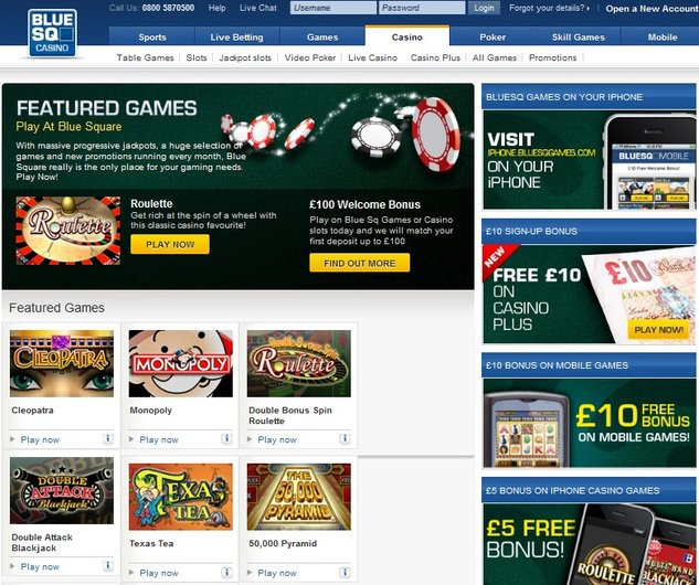 Blue Square Casino objective review on LCB