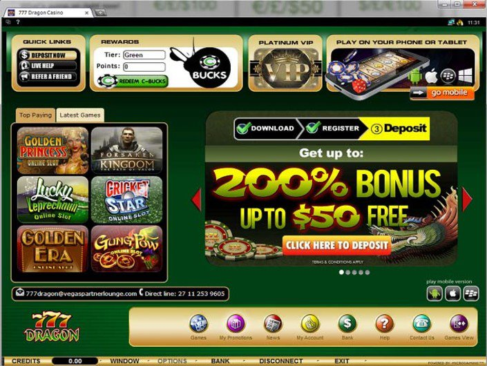 777 Dragon Casino No Deposit Bonus Codes