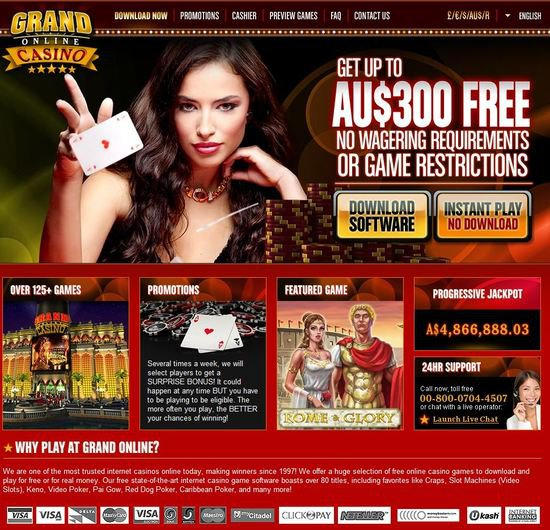 Grand Online Casino objective review on LCB