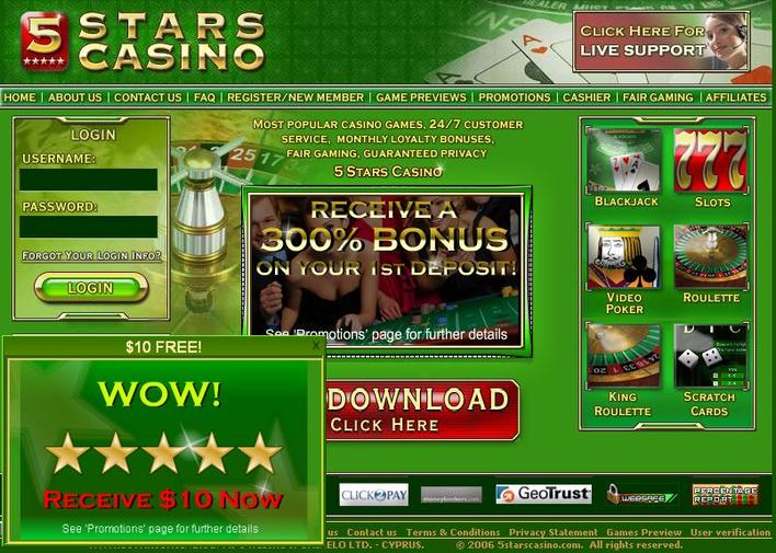 5 Stars Casino objective review on LCB