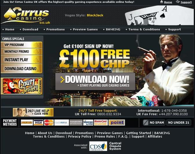 Cirrus Casino UK objective review on LCB