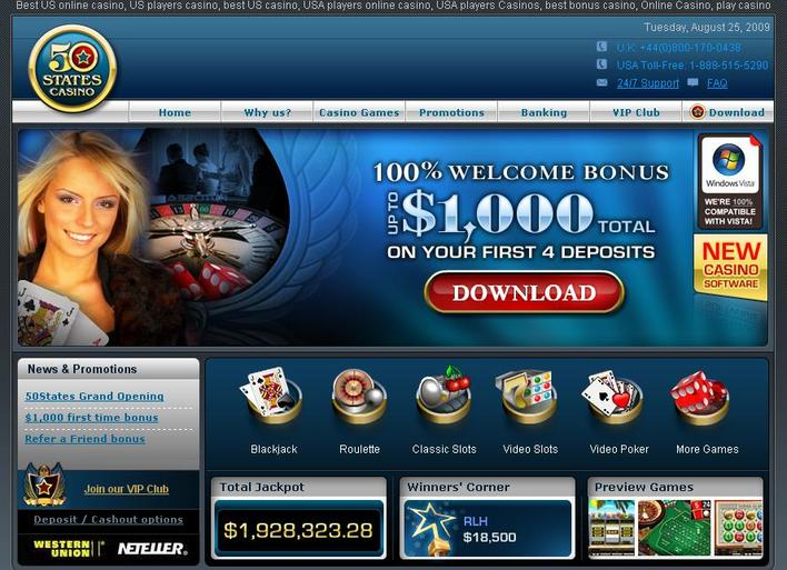 50 States Casino objective review on LCB