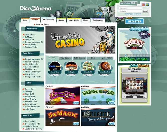 DiceArena Casino objective review on LCB