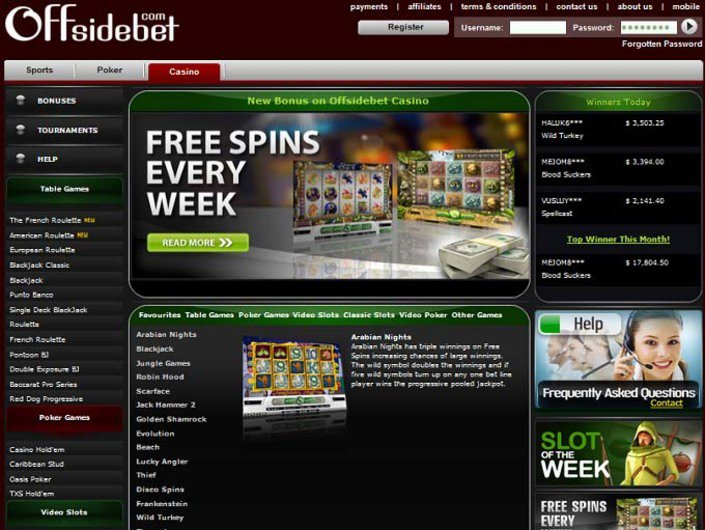 Offsidebet Casino objective review on LCB