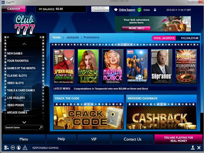 club 777 casino review