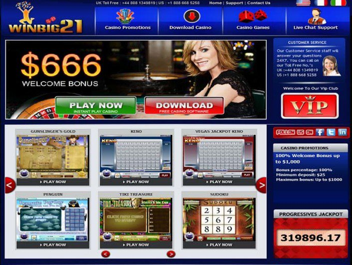 Winbig21 Casino objective review on LCB