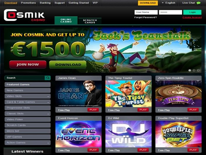 Cosmik Casino objective review on LCB