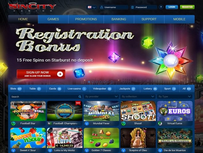 Sin City Casino objective review on LCB