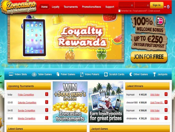 Zoncasino objective review on LCB