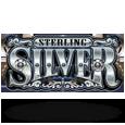 Sterling silver 3d logo
