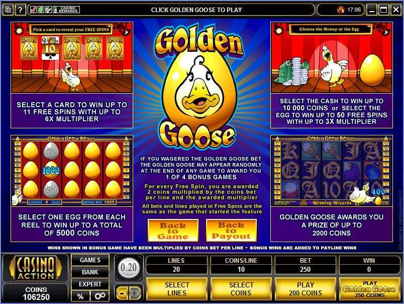 Game Review Golden Goose - Winning Wizards