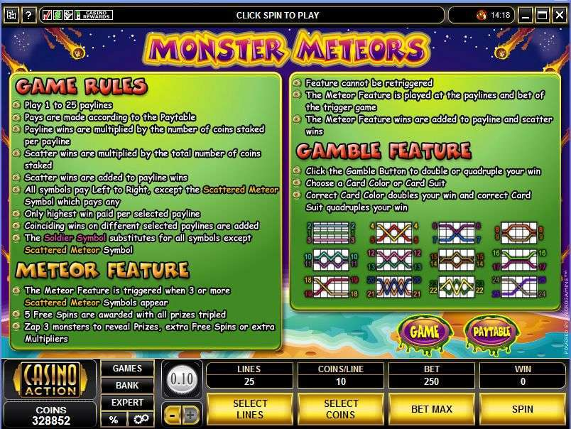 Game Review Monster Meteors