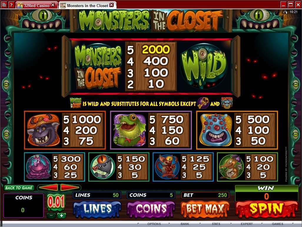 Monsters in the Closet online slot | Euro Palace Casino Blog