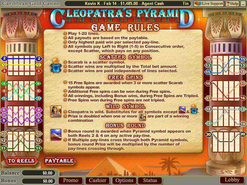 Game Review Cleopatra's Pyramid