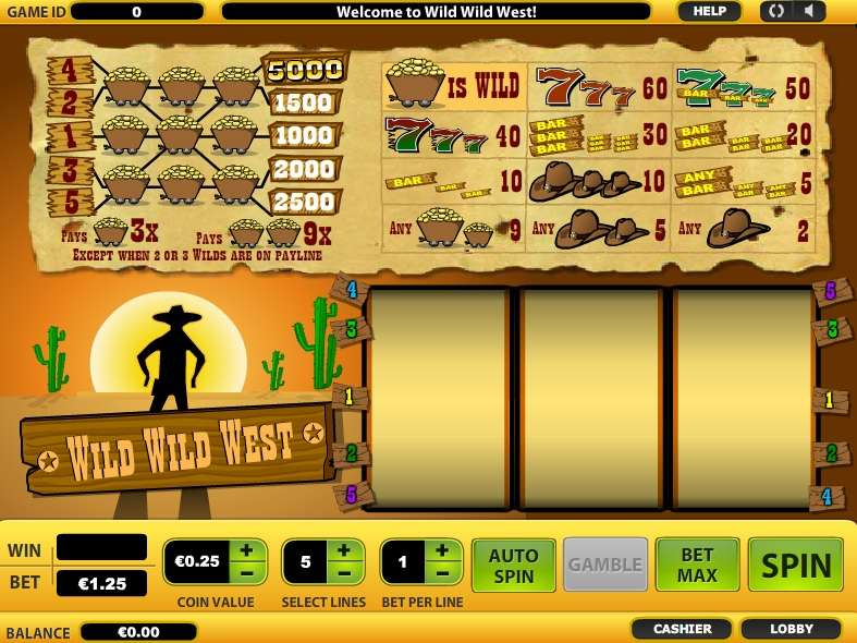 Wild wild west casinos supercasino co