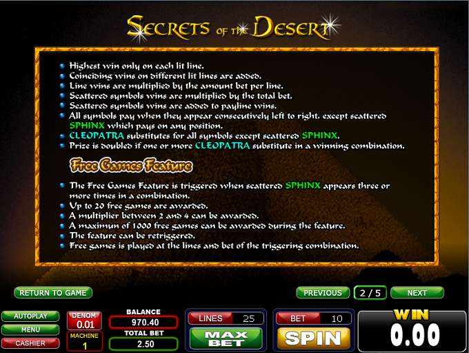 Game Review Secrets of the Desert