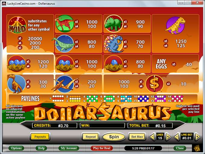 Game Review Dollarsaurus