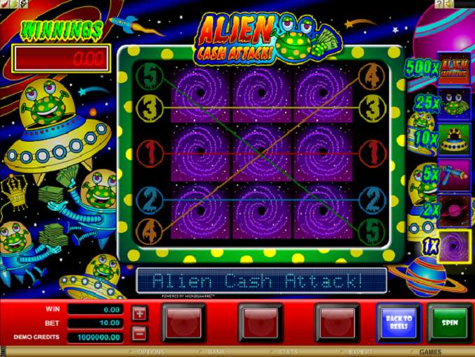 Game Review Alien Cash Attack