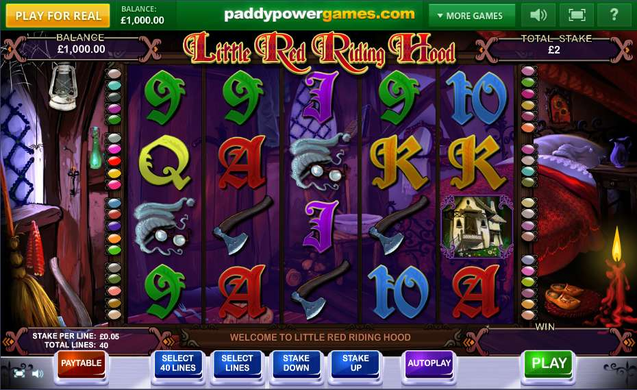 Little Red Riding Hood Slots - Try for Free Online
