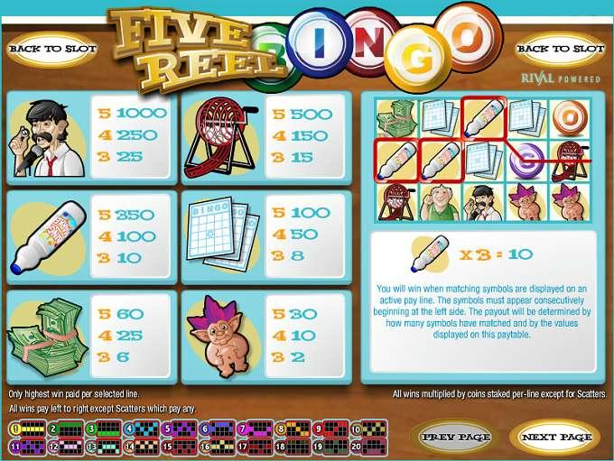 Game Review 5 Reel Bingo