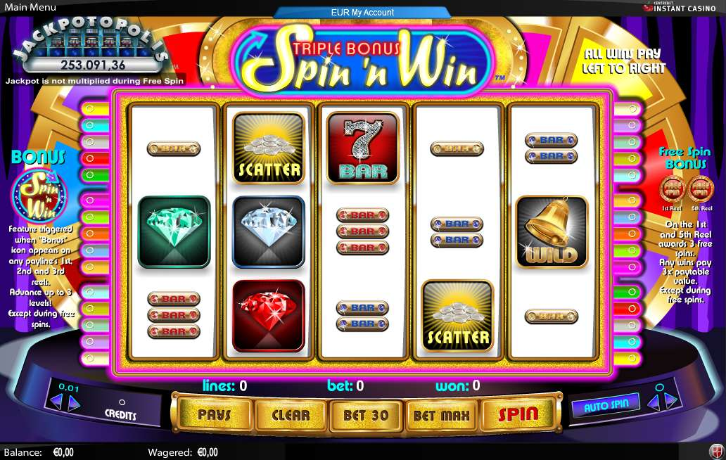 Game Review Triple Bonus Spin 'n Win
