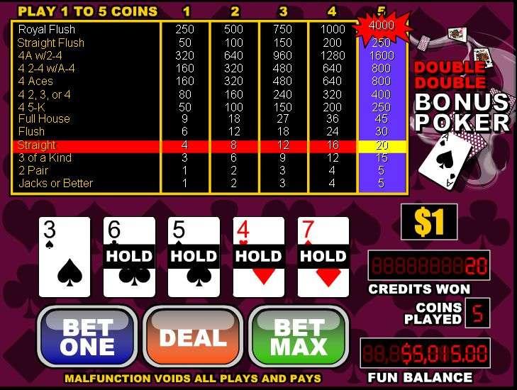 Play Double Double Bonus Poker Free