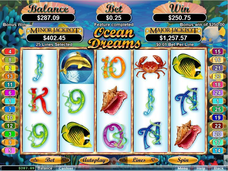 Ocean Dreams Slot - Going from Zero to 1000 times the Bet