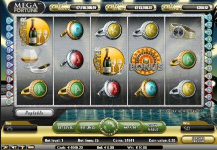 Online Progressive Mega Fortune Slot's Jackpot at Euro 7.5 Million