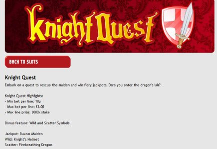 New Mobile Slot Knight Quest Launches