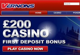 Vernons to Feature Online Casino and Poker
