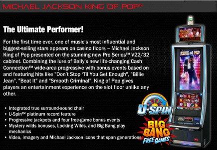 Bally Technologies Presents Michael Jackson Slot