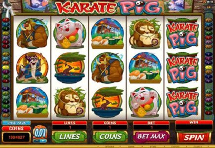 "New Microgaming Title – ""Karate Pig"""