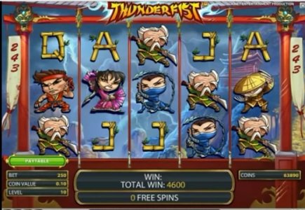 NetEnt Launches ThunderFist Slot Game