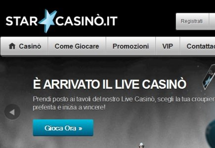 Star Casino in the Italian Market live with Evolution