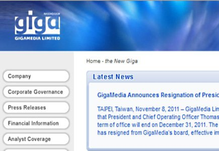 New Online Gaming Division Chief for GigaMedia