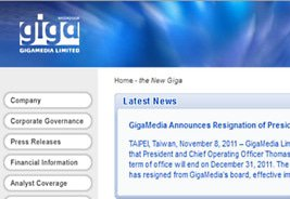 Gigamedia Appoints New Chairman