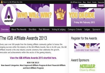 IGB Affiliate Awards 2013 Announced!