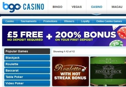 BGO Online Casino Offers NetEntertainment's Games
