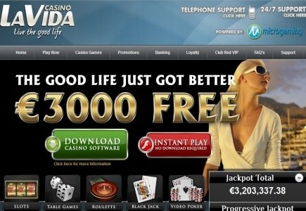 Online Player Wins Massive Jackpot at Casino La Vida