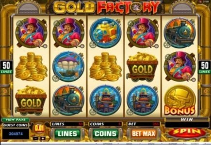 Gold Factory – New Slot in Microgaming Multi-Player Tournament Games Suite