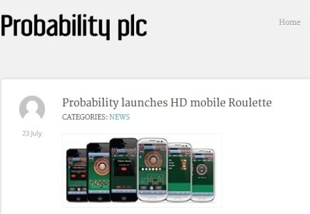 Probability Launches New HD Mobile Roulette Game