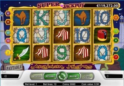 Arabian Nights Slot Awards Massive 691,276.82 Euro Jackpot at Casino Room