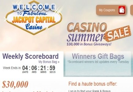 Jackpot Capital Casino's Casino Summer Sale to Award $130k