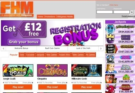 FHM Online Casino Making New Headway
