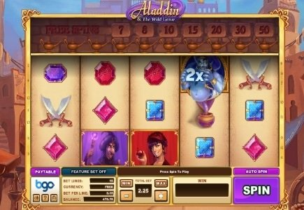 bgo Studios Launches Aladdin & the Wild Genie Slot Game