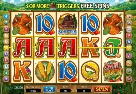Latest Microgaming Tournament Slot, Sweet Harvest