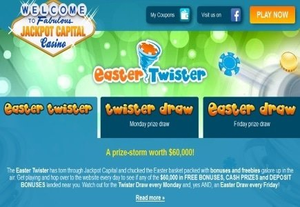 Jackpot Casino's Easter Twister Bonus Event